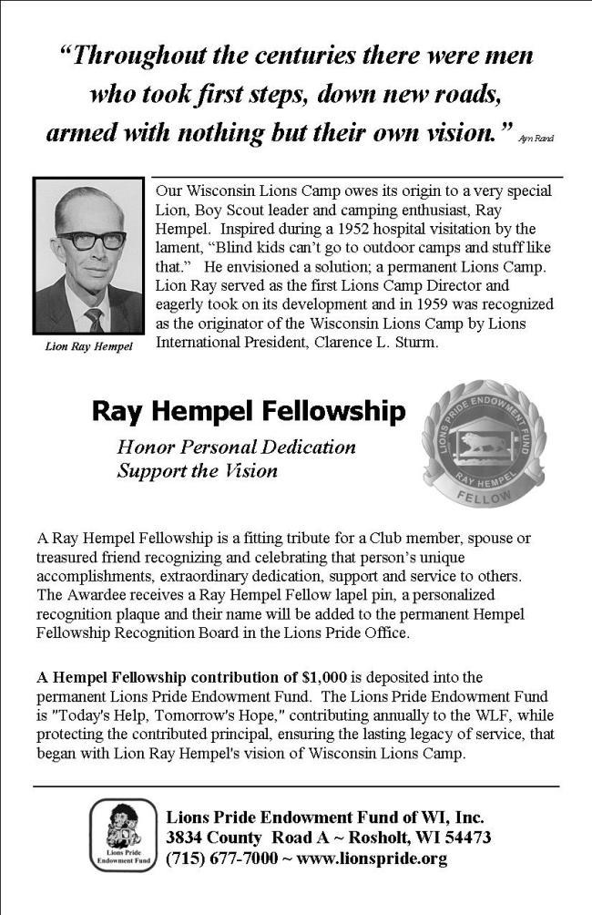 Ray Hempel Ad