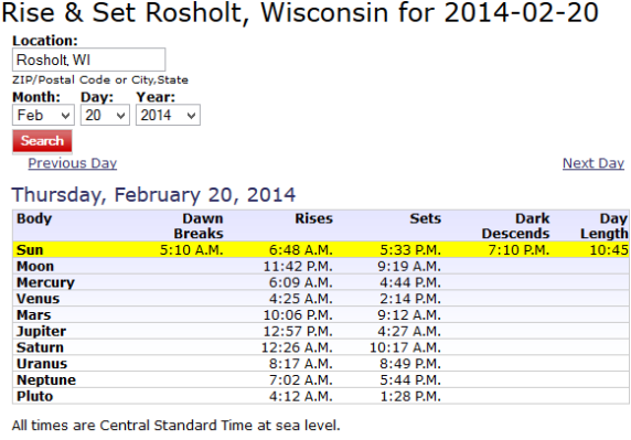 Rosholt February Weather