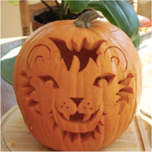 Cute Lion Pumpkin