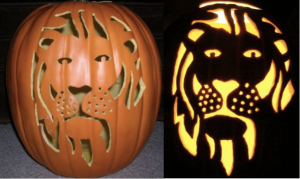 Lion Pumpkin 2