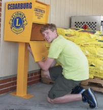 Lions Club Repurposed Mailbox