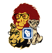 Lions Pride Logo with Glasses
