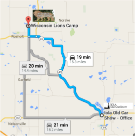 Wisconsin Lions Camp to Iola Car Show
