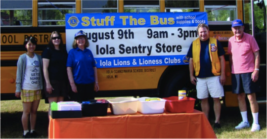 Iola Stuff the Bus