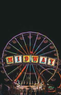 midway ferris wheel during nighttime
