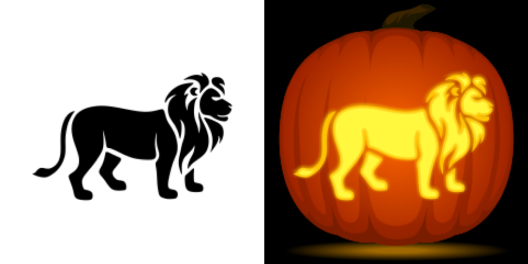 Lion Pumpkin Pattern
