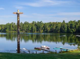 Lions Lake Totem Pole